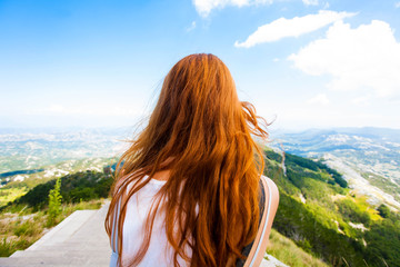 Montenegro, the mountain Lovcen and red hair