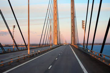 the Oresund Bridge,Malmo, Sweden