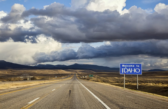 Welcome to Idaho highway sign