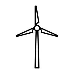 windmills clean energy thin line icon vector illustration eps 10