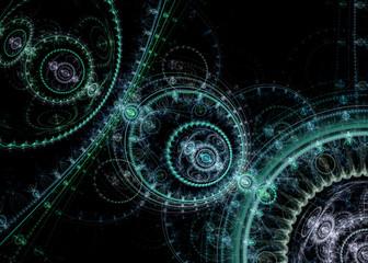 SteamPunk Fractal Background   - Universe Clockwork  Fractal Art