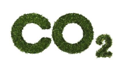 CO2 - grüner Rasen - isoliert