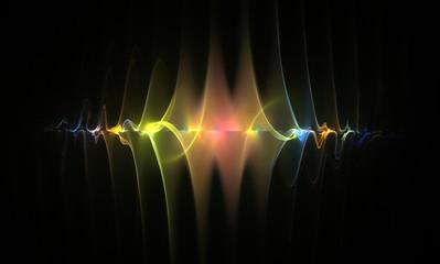 Fractal Shining Weaves - Fractal Background- Fractal Art