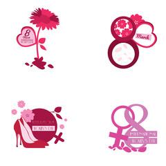 Happy women day graphic designs, Vector illustration