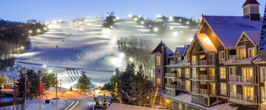 Blue Mountain Village in winter
