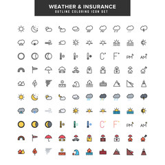 weather and insurance icon