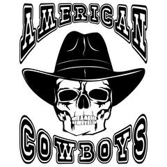 american cowboy skull var 1