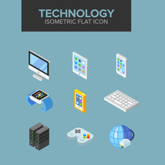 technology isometric icon