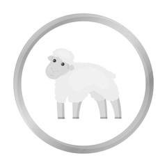 Sheep icon monochrome. Single bio, eco, organic product icon from the big milk monochrome.