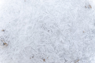 Ice abstract pattern in winter