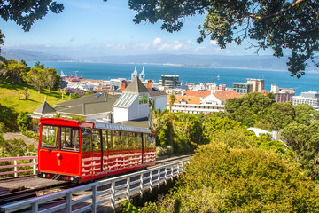 Foto op Plexiglas Nieuw Zeeland wellington cable car, new zealand