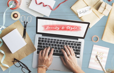 Beauty Style Fashion Text Concept