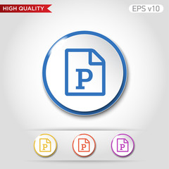 Picture icon. Button with picture file icon. Modern UI vector.