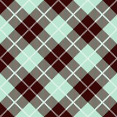 Tartan seamless vector patterns in beige blue colors
