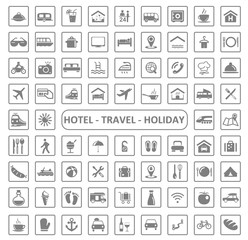 Icons Hotel, Travel and Holiday