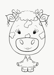 Children's Coloring funny giraffe girl