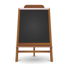 Black board Isolated. Vector illustration