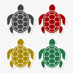Turtle Icon Flat Graphic Design - Illustration