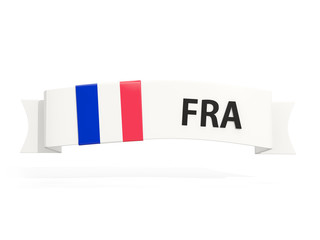 Flag of france on banner