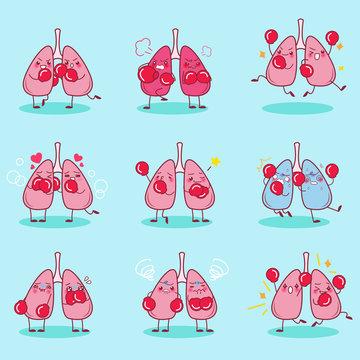 cartoon lung wear boxing