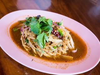 Bamboo shoot spicy salad Thai food