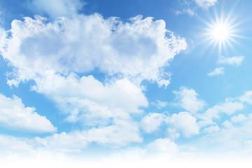 sunlight blue sky