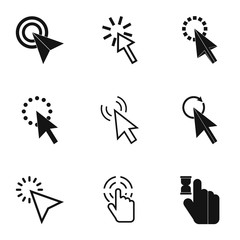 Pointer of computer icons set, simple style