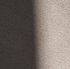Dark and bright side of wall texture with shadow