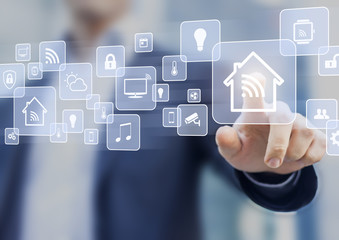 Internet of things (IOT) concept related to smart home automation