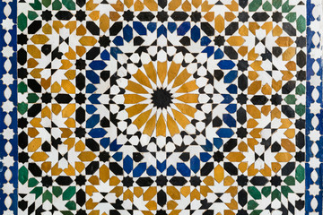 Morocco Seamless Pattern. Traditional Arabic Islamic Background. Ceramic decoration element.