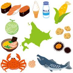 北海道 素材 観光 食べ物