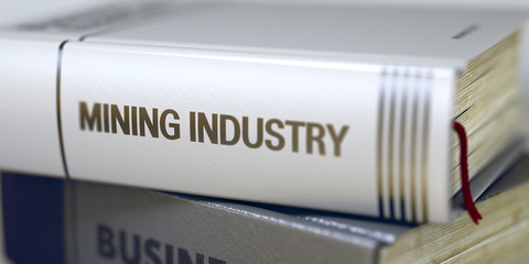 Mining Industry - Book Title. 3D.
