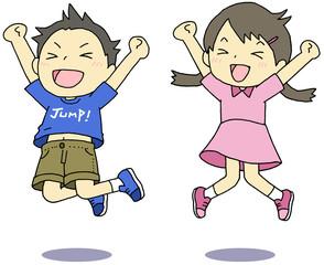 ジャンプ 喜ぶ 子供