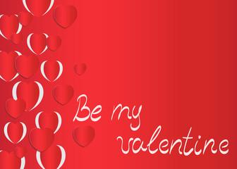Hearts background valentine day card