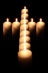 cross of burning candle 2