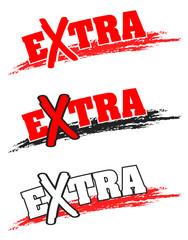 Extra, Angebot, Button, Wischer
