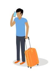 Traveler Character Isometric Vector Icon