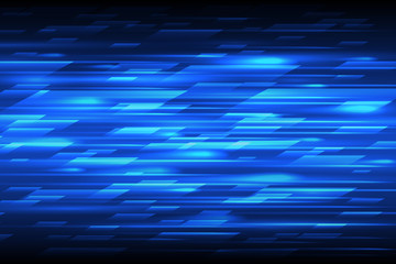 Speed vector abstract technology background. Fast lines blue moving design pattern