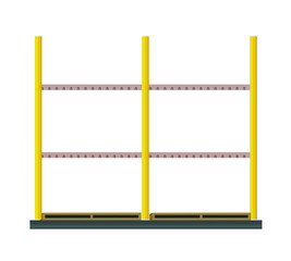 Industrial Warehouse Rack Vector in Flat Design