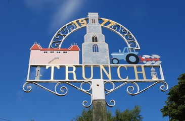 Village sign, Trunch, Norfolk, England