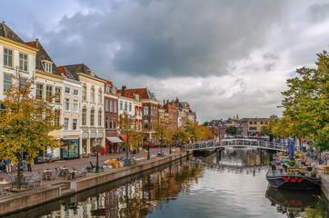 New Rhine river in Leiden, Netherlands