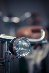 Bicycle headlight detail
