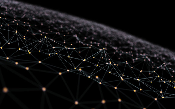 Abstract Scientific Graph or Nano Structure Background 3d Illustration