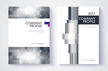 Company profile template. Cover design. Vector template backgrou