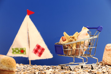 summer shopping concept
