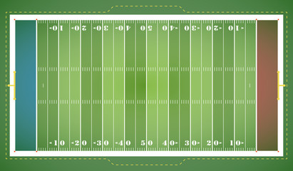 American Football - Spielfeld (in Grün)