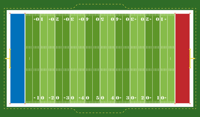 American Football - Spielfeld (Bunt)