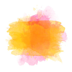 Orange watercolor splash vector