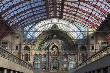 Aluminium Prints Train Station Antwerp Central Railway Station