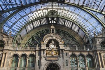 Aluminium Prints Train Station Train Hall of Antwerp Central Station